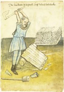 Waldarbeiter im 16 Jahrhundert